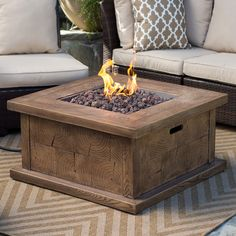 Red Ember Timberline 35 in. Gas Fire Pit Table with FREE Cover - The Red Ember Timberline 35 in. Gas Fire Pit Table boasts a rustic look that won't weather. Though it looks constructed from wood, this fire-pit table...