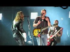 """Eric invites Lzzy out to join him in performing """"That's Damn Rock & Roll"""" at LP Field during CMAFest I was way over in the lower bowl with people walki. Lzzy Hale, Mayday Parade Lyrics, Alan Ashby, The Amity Affliction, La Dispute, Jack Barakat, Asking Alexandria, Halestorm, Eric Church"""