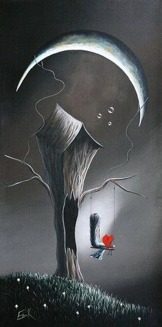 Sitting under the moon... waiting for true love to find me...Sigh