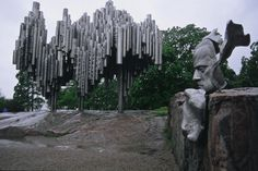 """Sept. 7, 1967. This is the Sibelius Monument in Finland. I used to visit it frequently as a child. """"Originally it sparked a lively debate about the merits and flaws of abstract art, for which reason an effigy of Sibelius was included in the work."""""""