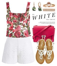 """White Shorts / White Jeans 3355"" by boxthoughts ❤ liked on Polyvore featuring Chicwish, Dolce&Gabbana, Proenza Schouler, Pomellato, Roberto Coin and Madara"