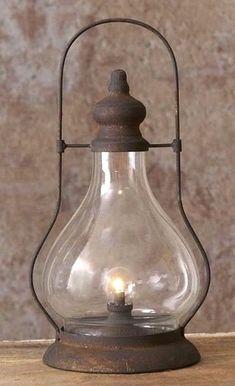 Primitive new LED Hurricane tin/glass lantern light w/ 6 hr. Primitive Homes, Primitive Kitchen, Country Primitive, Primitive Decor, Primitive Christmas, Primitive Pillows, Primitive Lighting, Primitive Furniture, Primitive Antiques