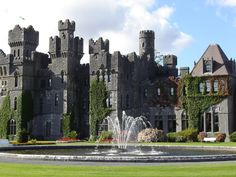 The 12 Most Beautiful Castles in Europe - This particular photo is of Ashford Castle in Cong, Ireland Ashford Castle Ireland, Castle Hotels In Ireland, Castles In Ireland, Castle Scotland, Beautiful Castles, World's Most Beautiful, Cong Ireland, Galway Ireland, Foto Top