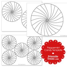 Free Printable Medium Peppermint Candy Template   Shapes and ...