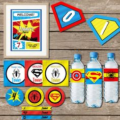 SuperHero Party - printable party - PDF digital file - diy party decorations