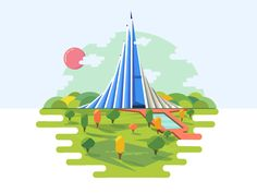 National Monument by Zahidul Islam #Design Popular #Dribbble #shots