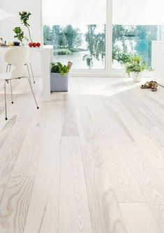 Personal and white colored Ash floor, Ash parquet Olive, sanded white hard wax oiled - Persoonallinen ja valkea saarnilattia, Saarniparketti Olive, hiottu valkoöljyvahattu. House Design, White Wooden Floor, Living Room Flooring, Hardwood Floors, Hardwood Floor Colors, Flooring, Room Flooring, Ash Flooring, Flooring Options