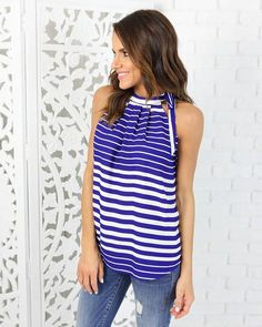 Abbie Tank - Royal Blue