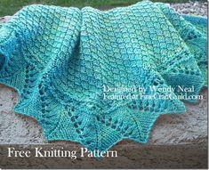 Free knitting pattern ::  Beautiful lace shawl. Easy, w video tutorials for 'advanced' stitch.