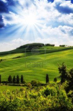 Toscana Hills y el campo en región de Chianti, Italia