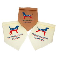 Presidential Election Dog Bandana  Republican Democrat or Independent - Who would your dog vote for?! ;)
