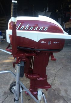 Each of these vintage antique outboard motors have been fully restored . A real beauty to say the least !