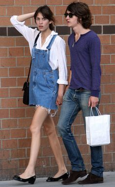Alexa Chung and Alex Turner out and about in NYC | July 26, 2009