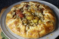 tomato, corn and zucchini galette
