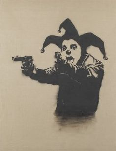 Insane Clown by Banksy (2001)