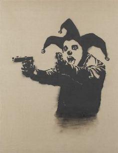 Insane Clown by Banksy (2001)