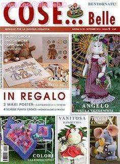 """Settembre 2013 - """"Angelo della vendemmia"""", il patchwork colorato realizzato con le tecniche piu' tradizionali e con la tecnica Baltimora"""