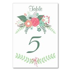 Wedding Bliss Floral Table Cards