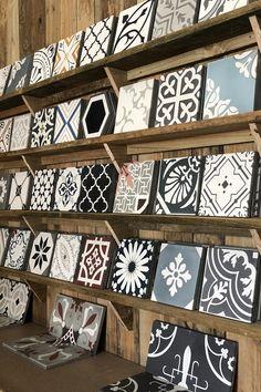 Rever Tiles specializes in the recreation and supply of a unique range of encaustic cement tiles, ea Cement Tiles Bathroom, Kitchen Backsplash, Mosaic Tiles, Wall Tiles, Bathroom Interior Design, Interior Decorating, Interior Design Boards, Tile Showroom, Encaustic Tile