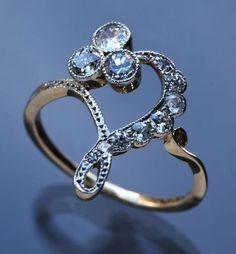 BELLE EPOQUE Ring   Gold Diamond;   European, c.1900
