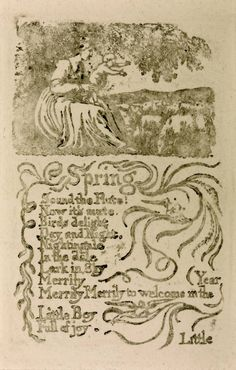 William Blake, ''Songs of Innocence and of Experience': 'Spring'' 1794, reprinted 1831 or later