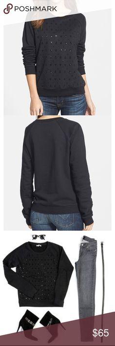 "Paige Denim ""Pauline"" Embellished Raglan Sweatshir Size small.  Gently used.  So comfortable!! Paige Jeans Tops Sweatshirts & Hoodies"