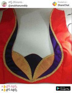Saree Jacket Designs, Patch Work Blouse Designs, Simple Blouse Designs, Blouse Back Neck Designs, Fancy Blouse Designs, Designer Blouse Patterns, Dress Patterns, Neck Lines, Saree Tassels