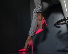 Neu-Designer-Mega-Sexy-Absatz-Damenschuhe-High-Heels-Party-Pumps-LACK-NEON-36-41