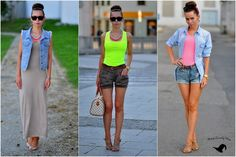 Petra Lovelyhair: OOTD - pop of neon aneb jak nosím neonové barvy Petra, Cover Up, Ootd, Neon, Beach, Clothes, Dresses, Fashion, Outfits