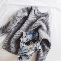 knit + denim #oneteaspoon