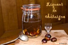 Chestnut Liquer - Liqueur de Chataigne. Recipe: http://ladies-with-bottle.blogspot.com/2011/11/chestnut-liqueur-for-christmas.html More specialties: http://letstalkaboutcorsica.com/is-there-a-particular-speciality-in-corsica-yes-without-hesitation-chestnuts-2/