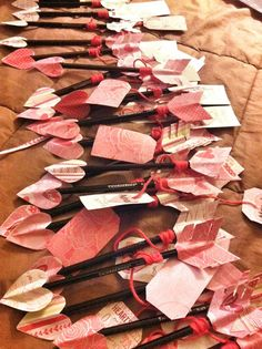 Pencil arrows for valentines day. Great idea for school. Less candy!