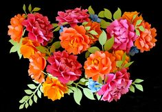 paper flowers designed by Dragonfly Expression - weddingpaperflower.com