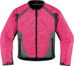 ICON Anthem Mesh Jacket - Pink