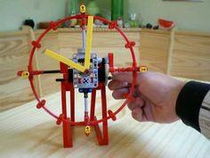 lego technic Clock , horloge - YouTube