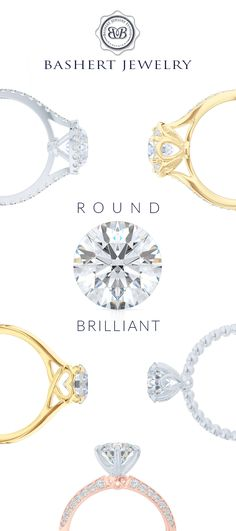 #RoundBrilliant beauty. Striking the balance between a stone and design is the…