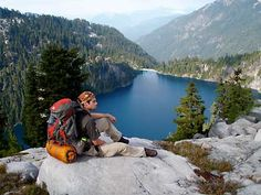 """Above Big Heart Lake, Alpine Lakes Wilderness, WA. """"We named this little scramble 'epic feelgoods.' If you don't understand, you need to go there."""" - By Brian Collins of Snohomish, WA w/ an Olympus digital camera"""