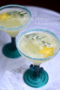 Star Fruit Margarita + Rosemary / Margarita de Carambola + Romero. Cocktail. Coctel.
