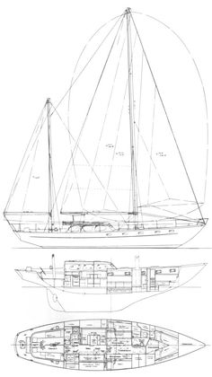 Alden 50 (Cheoy Lee) drawing on sailboatdata.com