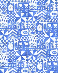 This week's Experiment in Blue is a pattern! You can see all of my Experiments in Blue here. Happy Monday!
