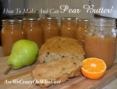 How To Make And Can Pear Butter!