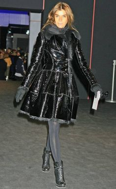 Carine Roitfeld looked in this Azzedine Alaïa leather jacket from Fall/Winter 2007
