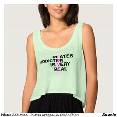 Pilates Addiction - Pilates Cropped Top Women