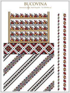 Semne Cusute: IA AIDOMA 14 = Bucovina, ROMANIA Cross Stitch Floss, Cross Stitch Patterns, Folk Embroidery, Embroidery Patterns, Wedding Album Design, Beading Patterns, Diy Clothes, Sewing, Knitting