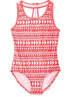 Racerback One-Piece Swimsuit for Girls Product Image