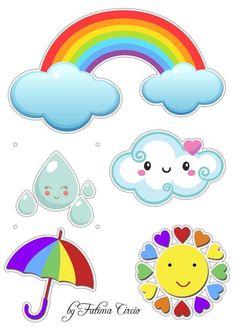 Edible Printing, Scrapbook Background, Printable Planner Stickers, Paper Flowers Diy, Diy And Crafts, Clip Art, Rainbow, Drawings, Birthday