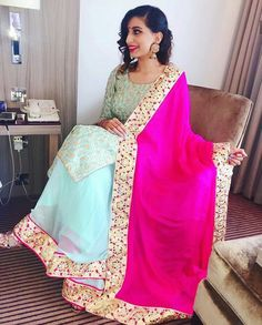 Indian Suits, Punjabi Suits, Silk Lehenga, Saree, Indian Designer Wear, Dress Designs, Pakistani Dresses, Designer Dresses, Swag