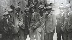 A photo purportedly of the Cairo Gang, but more probably the Igoe Gang. The Cairo Gang provided information to the British on the activities of the Irish Republican Army. Most of these men were killed on November Image: Public Domain. Michael Collins, Dublin, 1920s Gangsters, Irish Republican Army, Real Gangster, Mafia Gangster, Gangster Style, Gangster Movies, Public Enemies