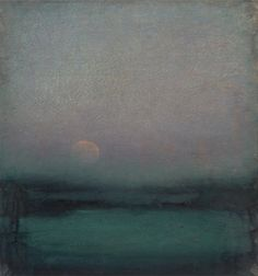 John Felsing |The Moon Hangs Like Heaven,Oil on linen, 23 x 22 inches. Thank you,chasingtailfeathers.
