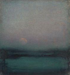 John Felsing | The Moon Hangs Like Heaven, Oil on linen. Thank you, chasingtailfeathers.